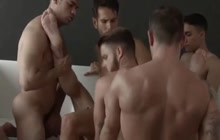 Amazing gay fuck party