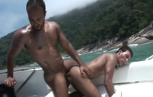Hard bareback fuck on a yacht