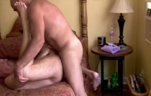 Amateur bear fucked hard in the ass