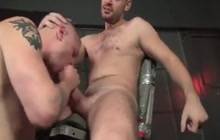 Two hunks love a good bareback fuck