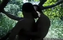 Horny Latinos fucking in the nature