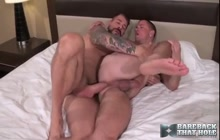 Tattooed DILF Rocco Steele fucks Max Cameron