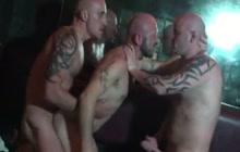 Bareback Gym 3some