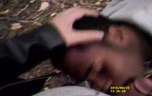 Black thug takes white cock outdoor