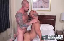 Bareback banging with Rocco Steele and sexy gay