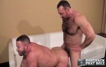 Horny daddies fucking bareback style