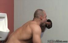 Gloryhole dude fucked bareback