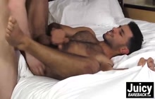 Nick West and Johnny Rapid raw fucking on bed